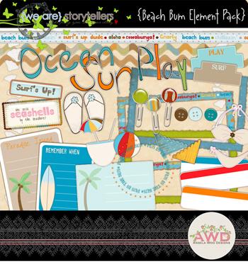 Beach Bum Element Pack by Angela Woo