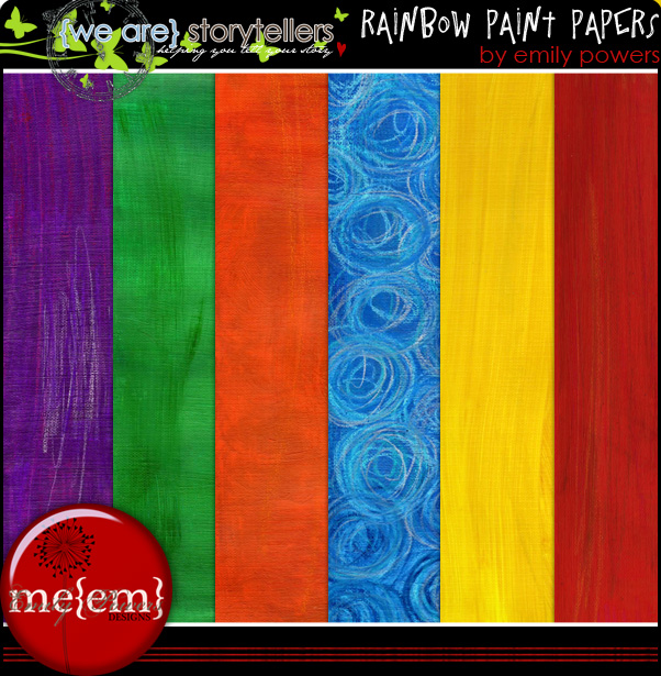 Rainbow Paint Papers